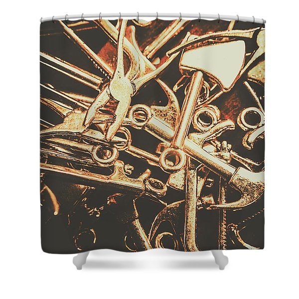 Workshop Abstract Shower Curtain