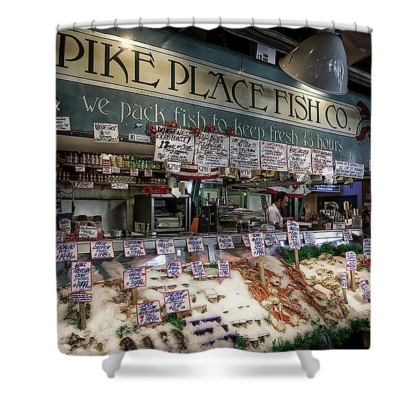 World Famous Pike Place Fish Company - Seattle Shower Curtain