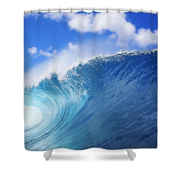 World Famous Pipeline Shower Curtain