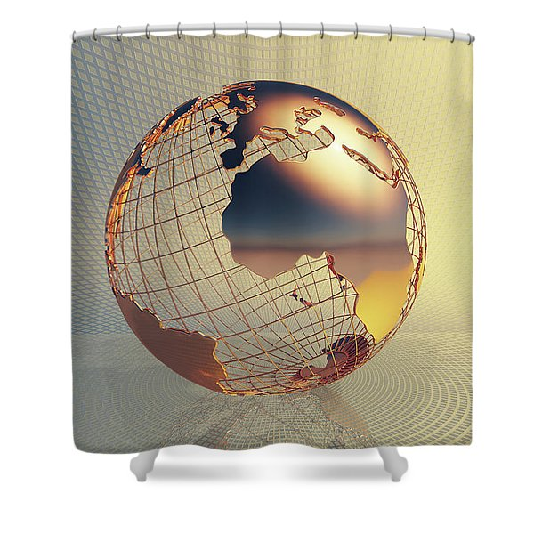 World Global Business Background Shower Curtain