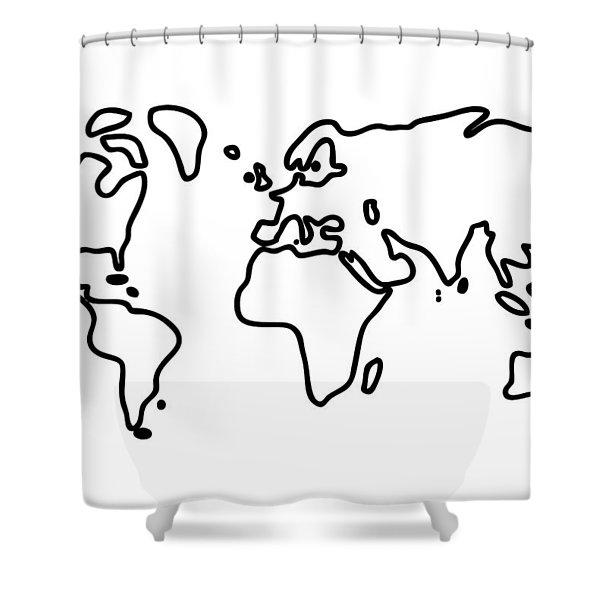 World Globe Shower Curtain