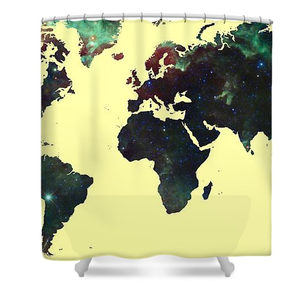 World Map 2 Shower Curtain