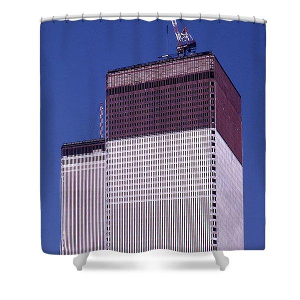 World Trade Center Under Construction Shower Curtain