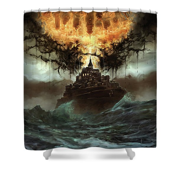 Worlds Merge Shower Curtain