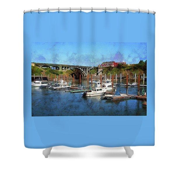 Worlds Smallest Harbor Shower Curtain