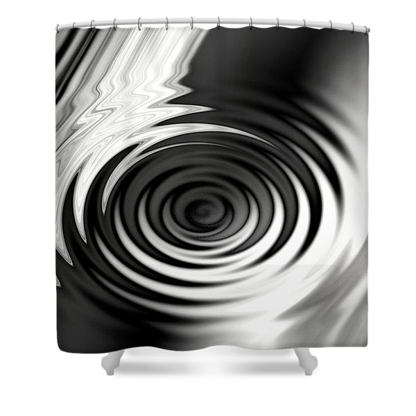 Wormhold Abstract Shower Curtain