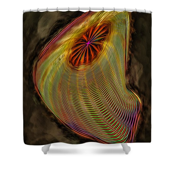 Wormhole In Space Shower Curtain