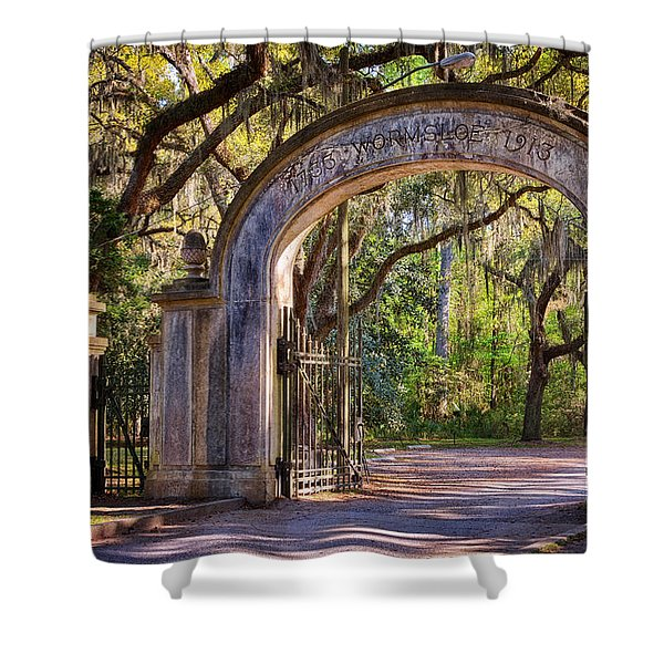 Wormsloe Plantation Gate Shower Curtain