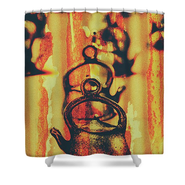 Worn And Weathered Kettles Shower Curtain