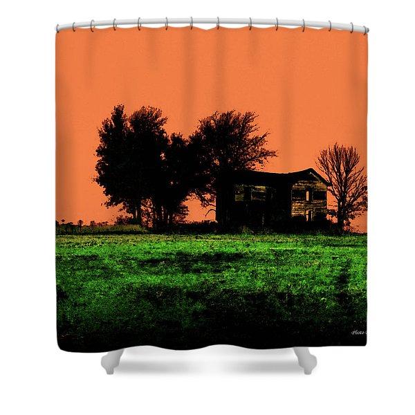 Worn House Shower Curtain