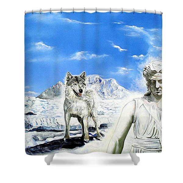 Wounded Amazon Shower Curtain