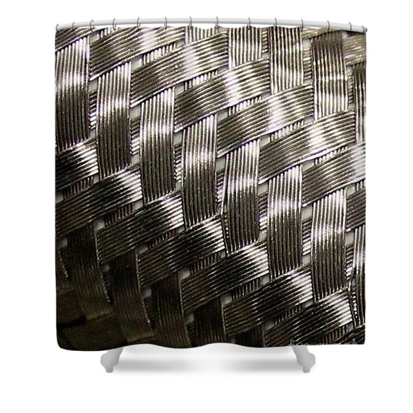 Woven Pipe Shower Curtain