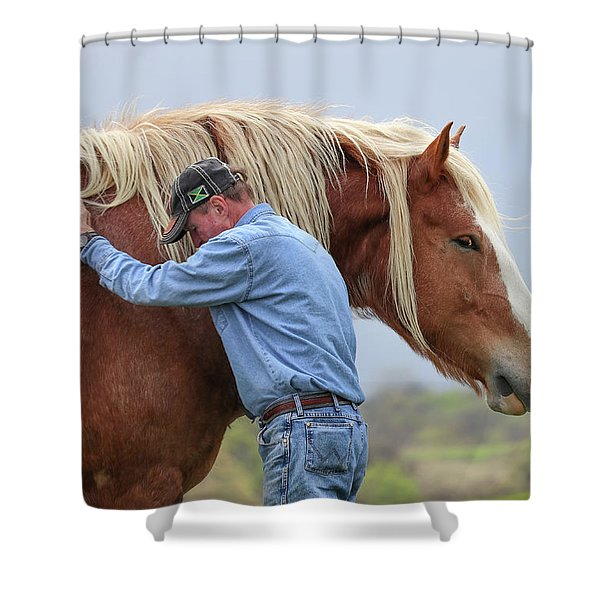 Wrangler Jeans And Belgian Horse Shower Curtain