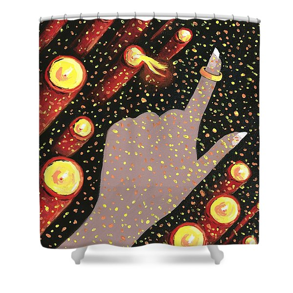 Wrapped Around My Finger Shower Curtain
