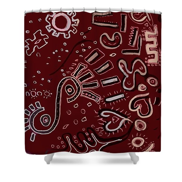 Wrapping Paper Shower Curtain