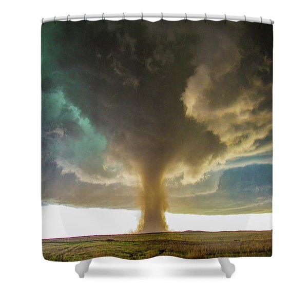 Shower Curtain featuring the photograph Wray Colorado Tornado 079 by NebraskaSC