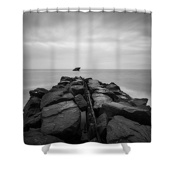 Wreck Of The Ss Atlansus Of Cape May Nj Shower Curtain