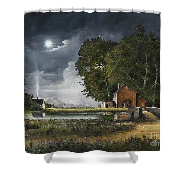 Shower Curtain featuring the painting Wrekin View by Ken Wood