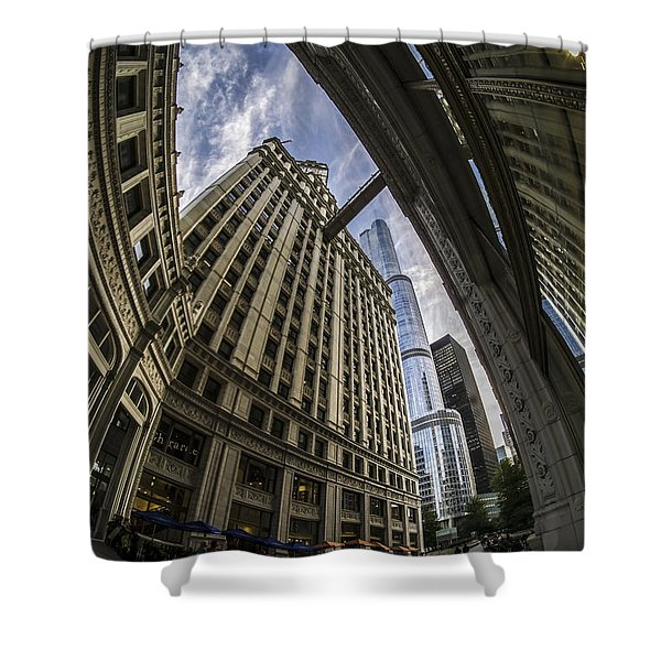 Wrigley And Trump A Fisheye View Shower Curtain