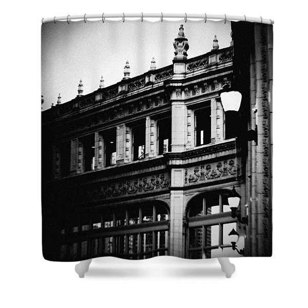 Wrigley Building Square Shower Curtain