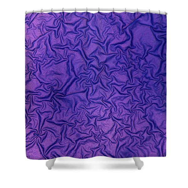 Shower Curtain featuring the photograph Purple Wrinkles by Beauty of Science