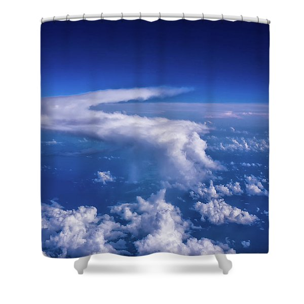 Writing In The Sky Shower Curtain