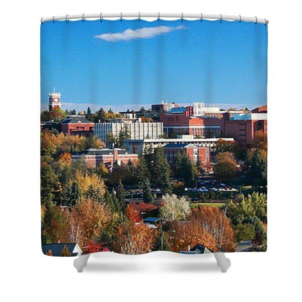 Wsu Autumn Panorama Shower Curtain