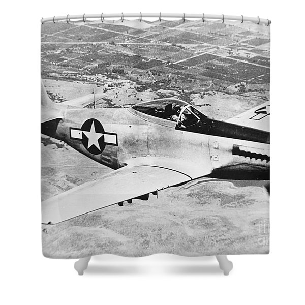 Ww2 North American P51 Mustang Shower Curtain