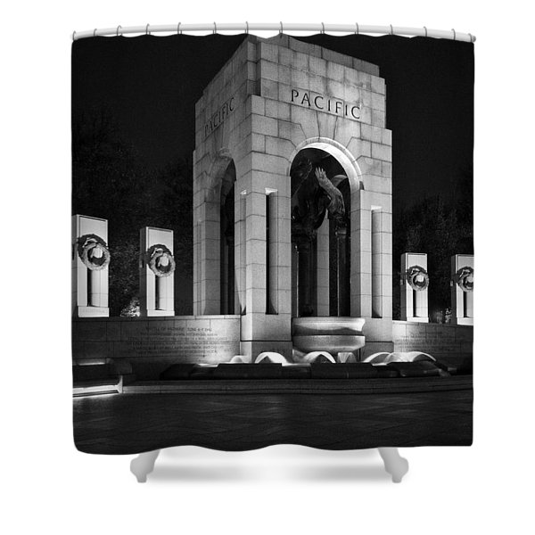 World War 2 Memorial, Pacific Shower Curtain