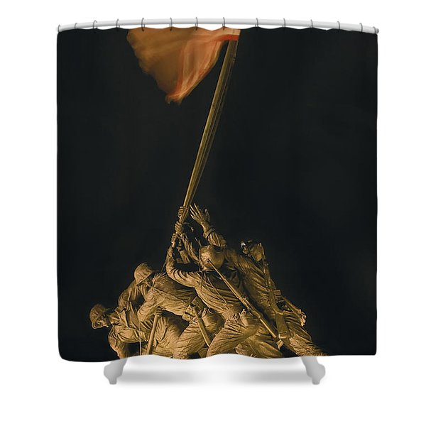 Iwo Jima Remembrance Shower Curtain