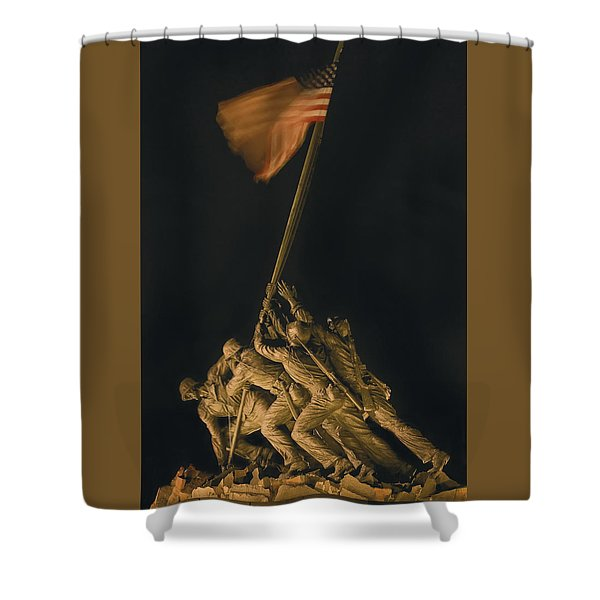 Iwo Jima Remembrance Shower Curtain
