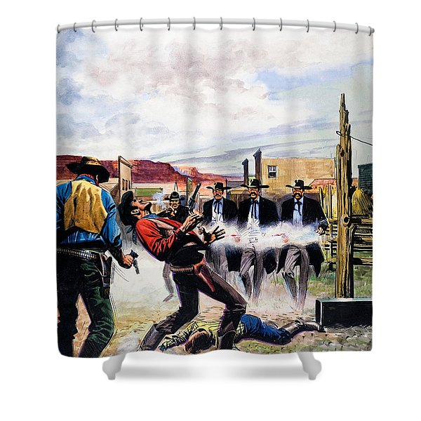 Wyatt Earp And The Battle Of The Ok Corral Shower Curtain