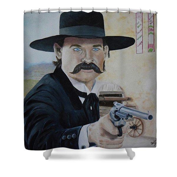 Wyatt Earp - Kurt Russell Shower Curtain
