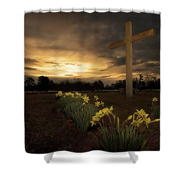 Wye Mountain Sunset Shower Curtain