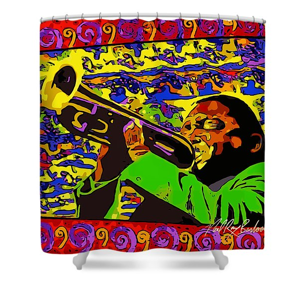 Wynton Marsalis Plays Louis Armstrong Rework Shower Curtain