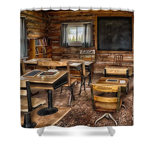 Wyoming Country School Shower Curtain