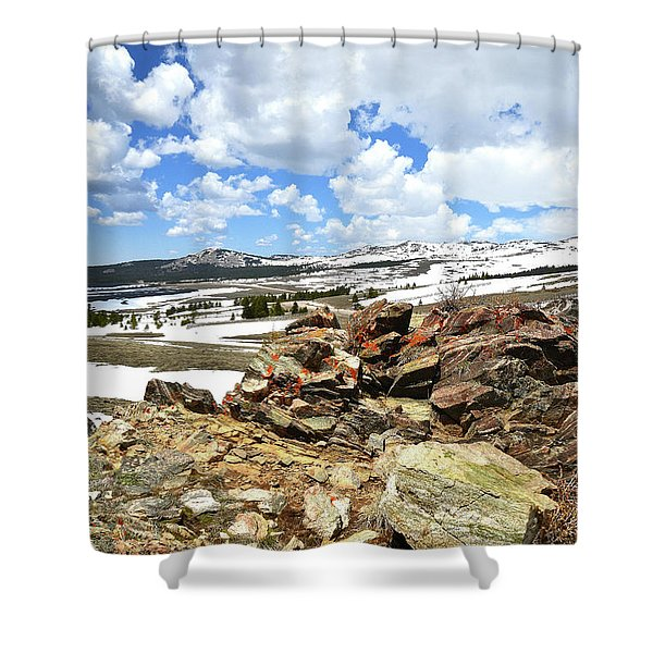 Wyoming's Big Horn Pass Shower Curtain