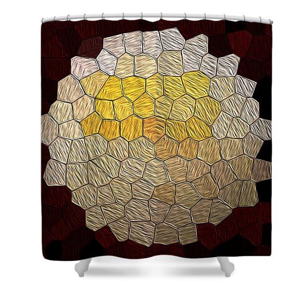 X-mas Tiles Shower Curtain