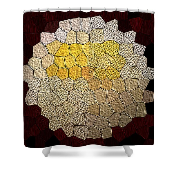X-mas Tiles Shower Curtain