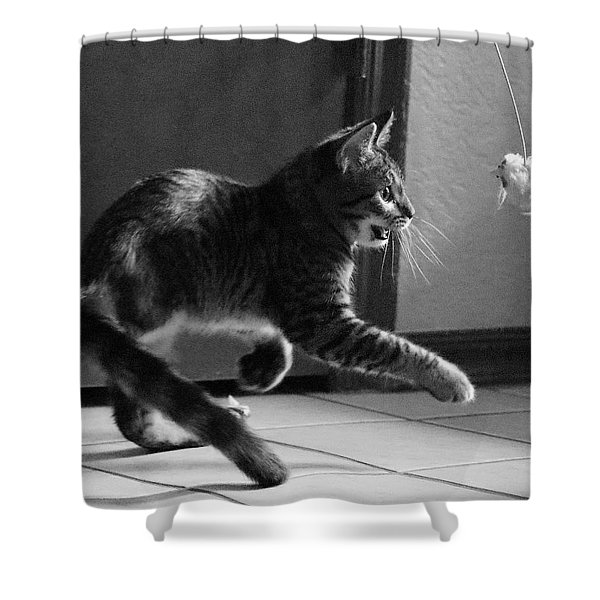Xena Playing Shower Curtain