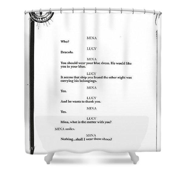 xlr8 dracula 43 John J Muth Shower Curtain