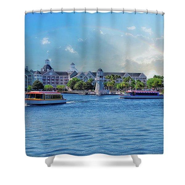 Yacht And Beach Club Walt Disney World Shower Curtain