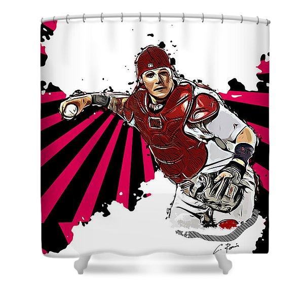 Yadier Molina Shower Curtain