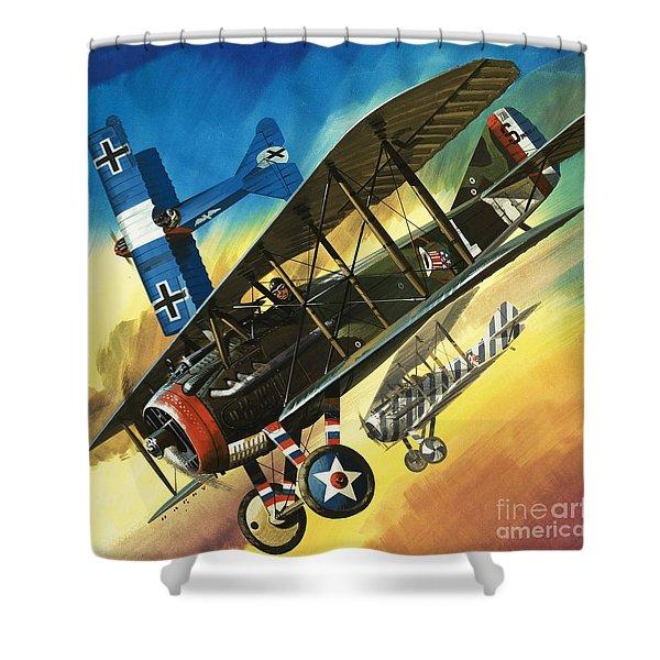 Yankee Super Ace Edward Rickenbacker Shower Curtain