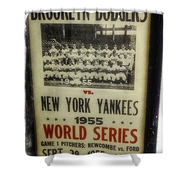 Yankees And Dodgers World Series 1955 Shower Curtain
