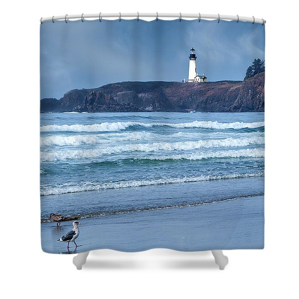 Yaquina Head Lighthouse Shower Curtain