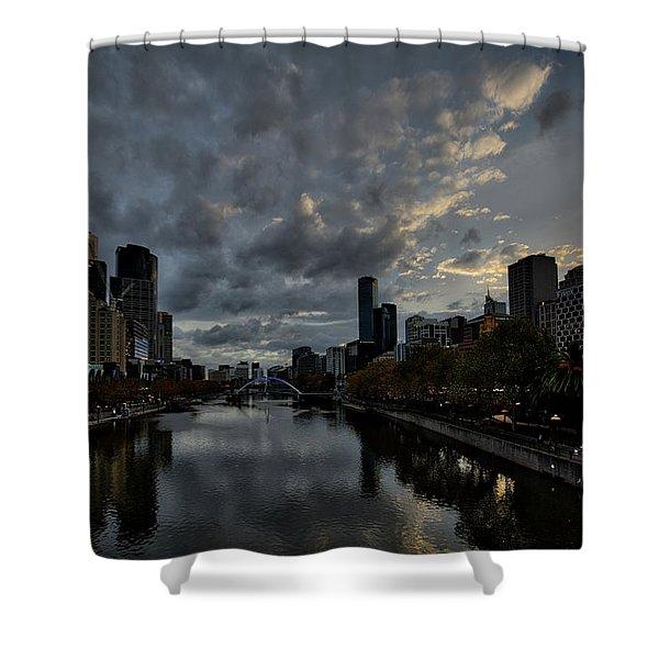 Yarra River Sunset, Melbourne Shower Curtain