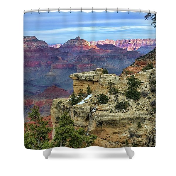 Yavapai Point Sunset Shower Curtain