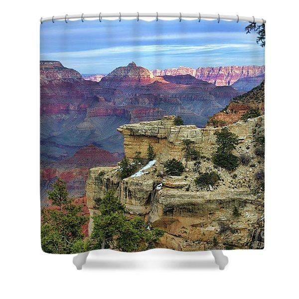 Yavapai Point Sunset Shower Curtain