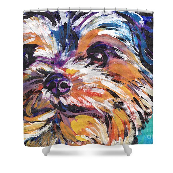 Yay Yorkie  Shower Curtain